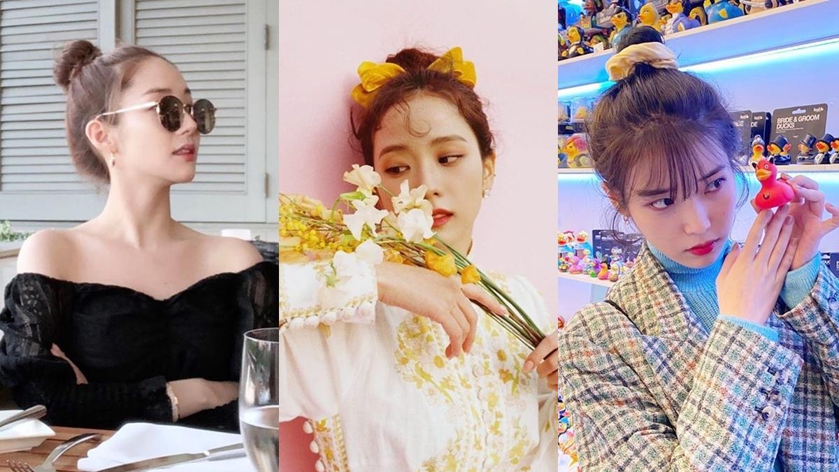 JISOO超像公主!7款韓星「瀏海X包包頭」搭配範本,不同臉型都能綁出超合適包包頭!