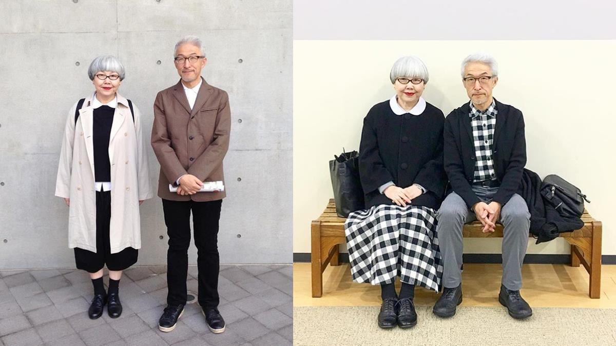 連續37年來每天都要穿情侶裝曬恩愛!日本60歲夫妻穿搭日記,格紋這幾套都好潮啊!