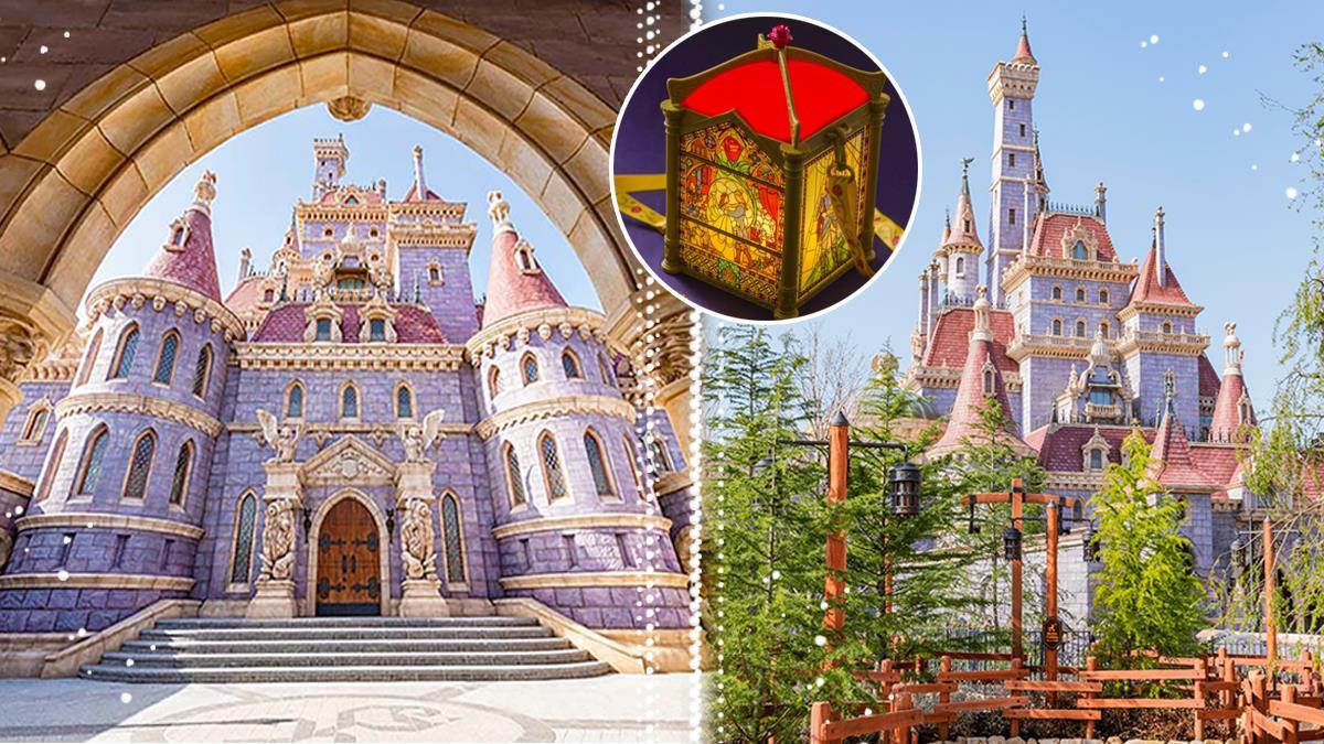 公主歡迎歸來🌹東京迪士尼《美女與野獸》園區正式開幕!粉嫩城堡新照曝光、絕美新周邊全想帶回家~