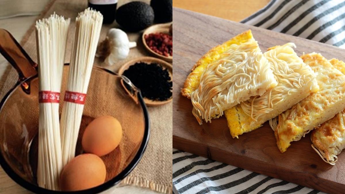 打入蛋汁、放入麵線就完成了!適合冬天吃的「麻油麵線煎」在家食譜,美味5顆星!