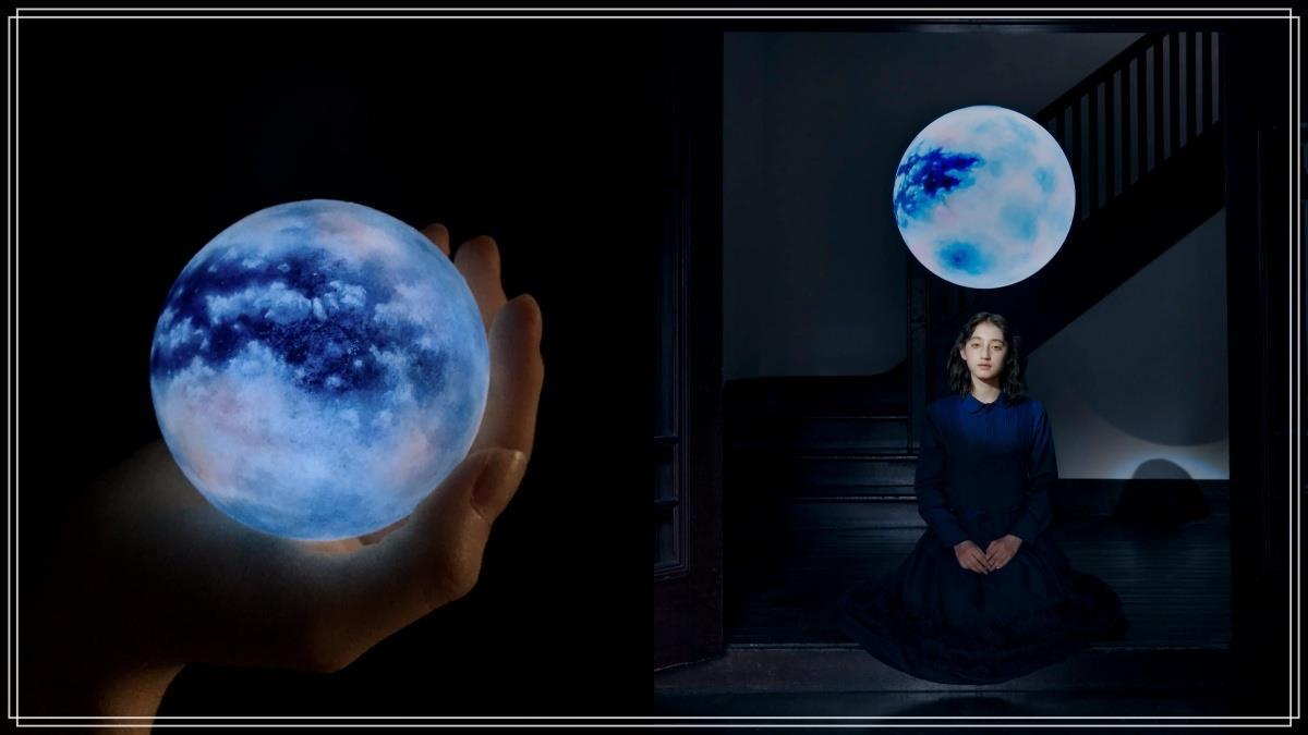 房間化身浪漫宇宙!超夢幻「手工藍色月球燈」陪妳度過療癒月圓之夜,迷你款根本掌中天文奇觀啊~