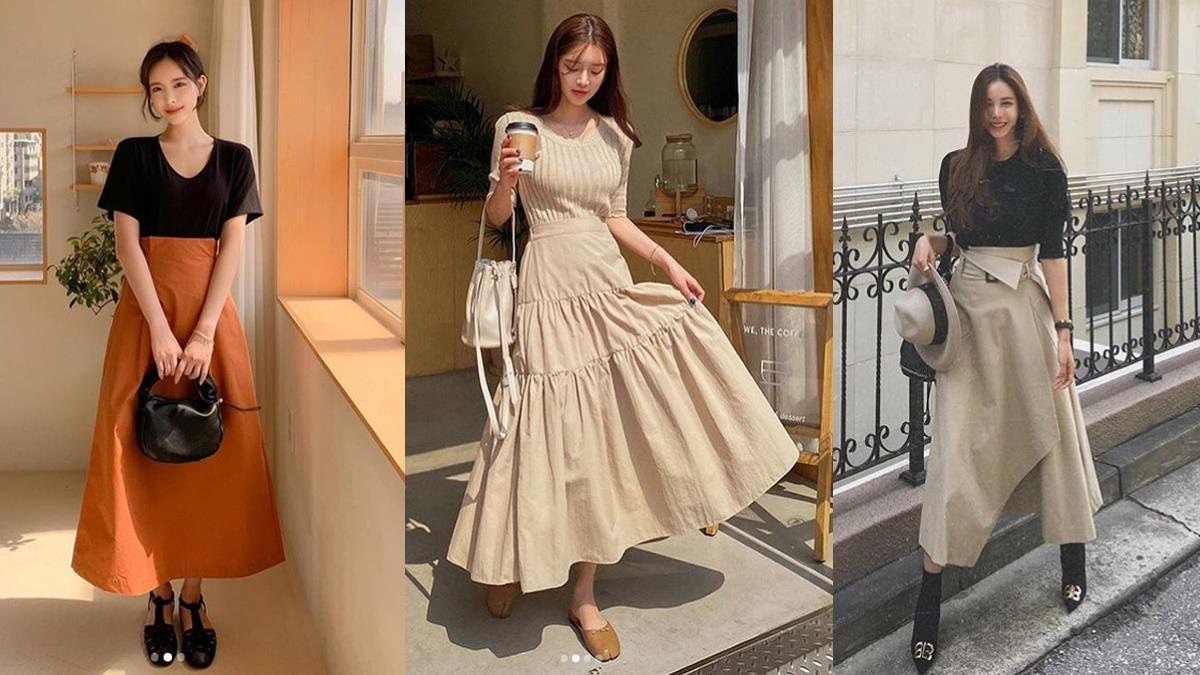 自帶修圖技能的裙子!女孩必備的「多種類型百搭傘裙」推薦,顯瘦顯高還順便修飾臀型~
