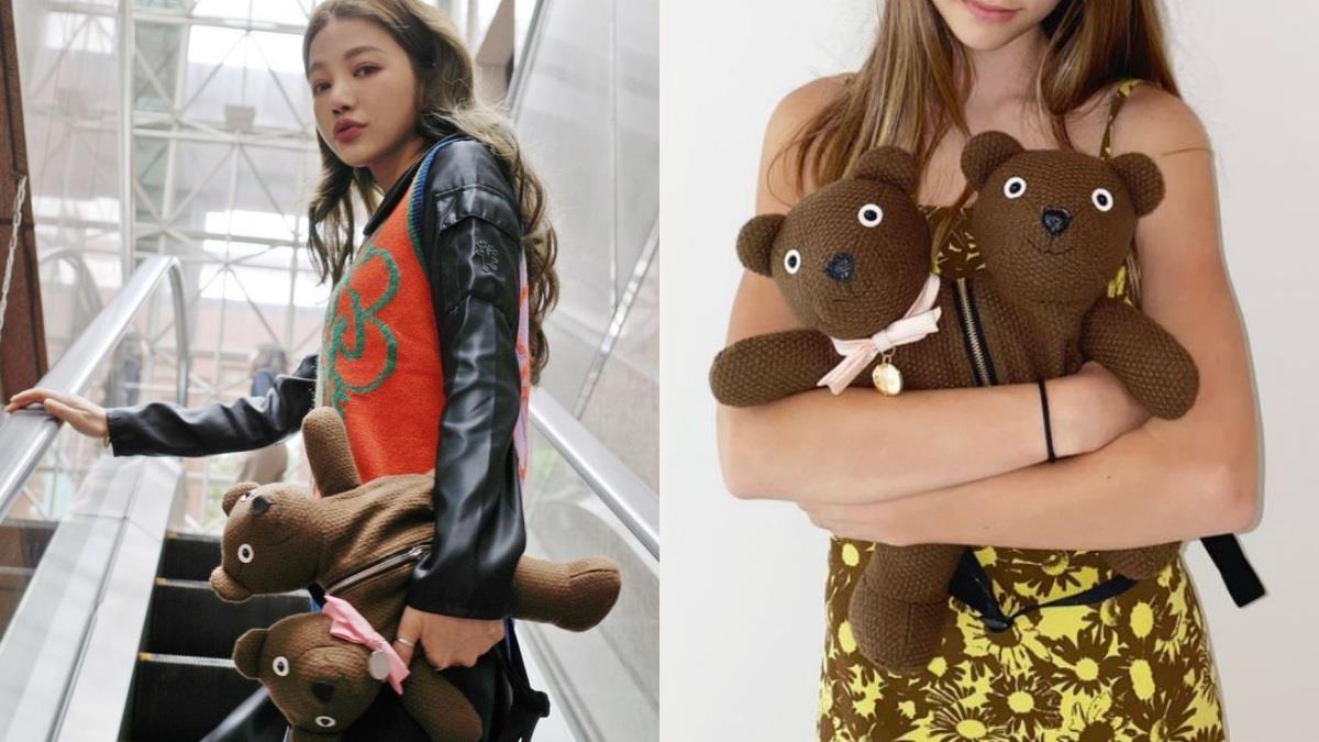 娃娃、包包傻傻分不清~Marc Jacobs搞怪又可愛的「雙頭小熊針織包」,服飾、抱枕在台灣通通買得到!