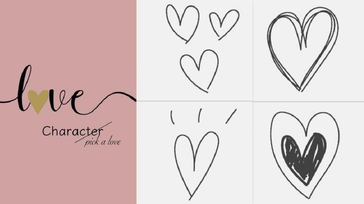 超神準心理測驗!直覺「選一個愛心」,測你是哪種類型的人