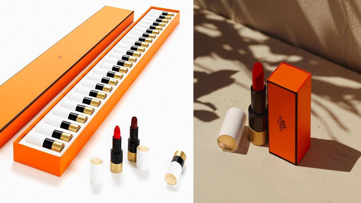 完全是上流名媛氣場!愛馬仕限量奢華「24色鋼琴唇膏禮盒」,經典色號一次收齊超療癒!