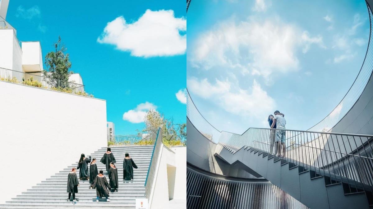 像前往仙境的階梯!美到讓人窒息的「台南美術館二館」,情侶照、畢業照怎麼拍都對味啊♥