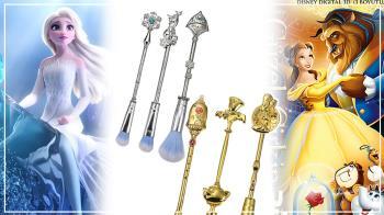 擁有公主的童話妝容!迪士尼「公主刷具」漸層刷毛X寶石點綴超浮誇,誰說只有Elsa能戴華麗皇冠!