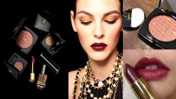 摸得到的奢侈!聖誕彩妝結合Chanel 2.55經典壓紋,香奈兒4色眼影絕美上「眼」
