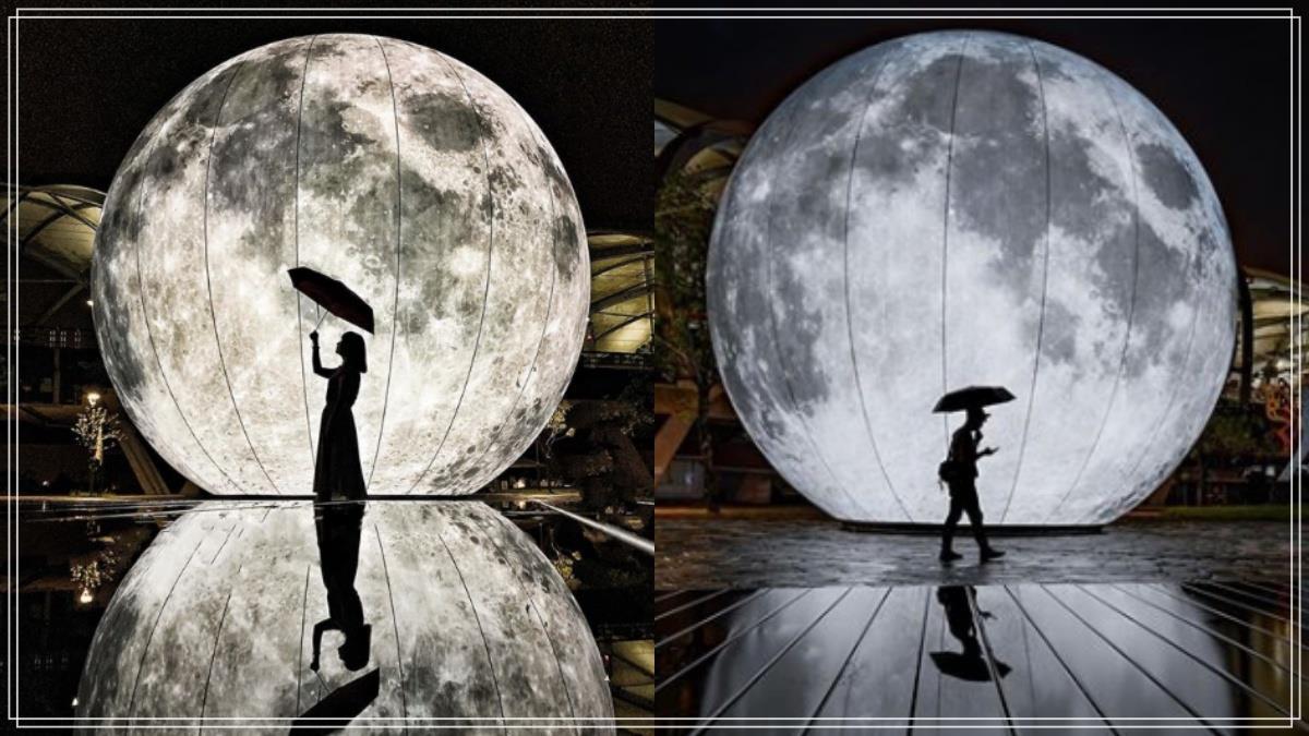 月亮怎麼掉到這裡惹!限時美景「10公尺擬真月亮」隨便拍都仙到哭,把握時間塞爆手機相簿啦♥