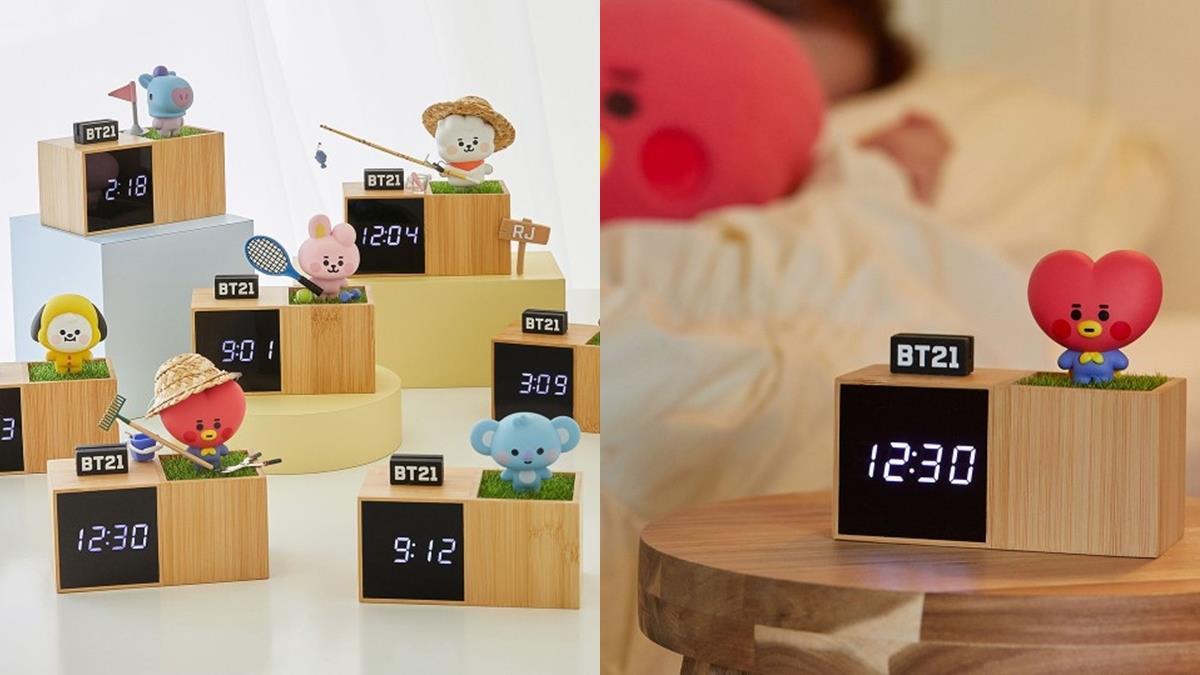 有它就捨不得再賴床!「BT21數位時鐘」可愛登場,木質底座+公仔質感大爆發~
