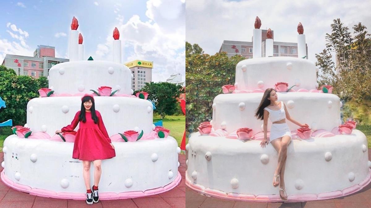 比人還要高的蛋糕底家!台東「生日蛋糕公園」超夢幻三層大蛋糕,生日就揪姊妹來這裡慶生啦~