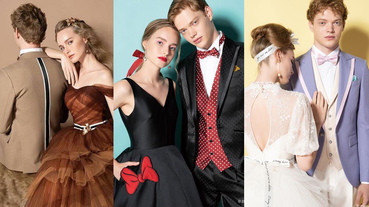 不只陪伴童年還要一起走紅毯♥日牌「迪士尼角色婚紗系列」唯美至極,黛西的蕾絲美背款全場最美~