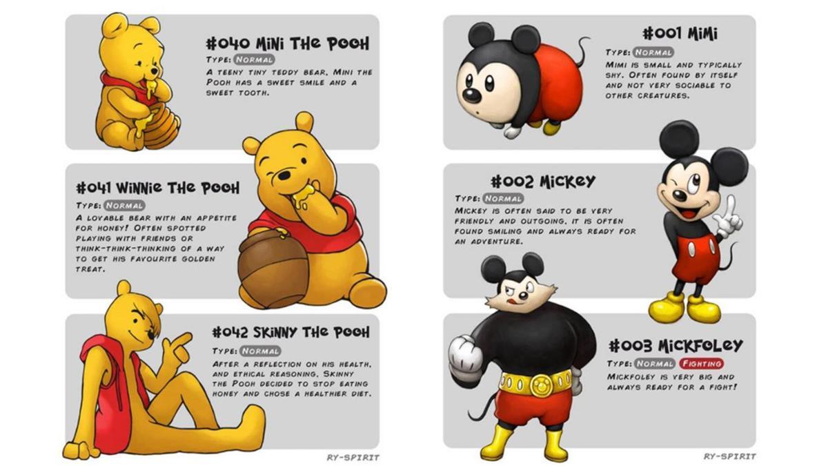 小熊維尼根本男神潛力股!不是只有歐爸會進化,一次看「10大卡通人物進化史」!小小毛怪是少女寵物吧~