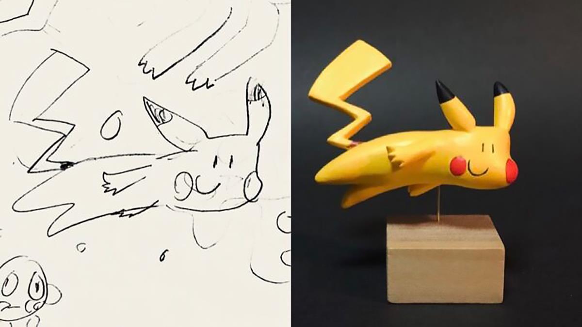將孩子的塗鴉做成紙粘土模型 巧手作者 Taku Inoue