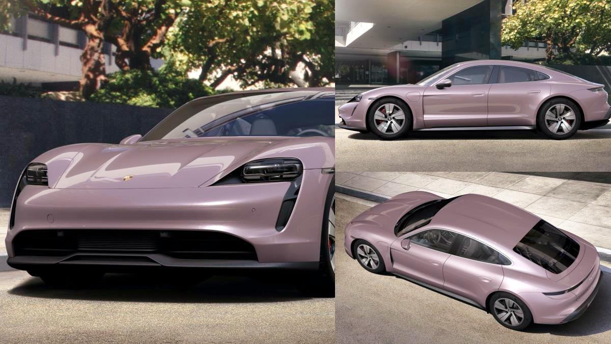 跑車也能讓少女心噴發!保時捷電動跑車「甜美冰莓粉嫩色」即將登場,外表&內裝帥氣甜美兼具啊