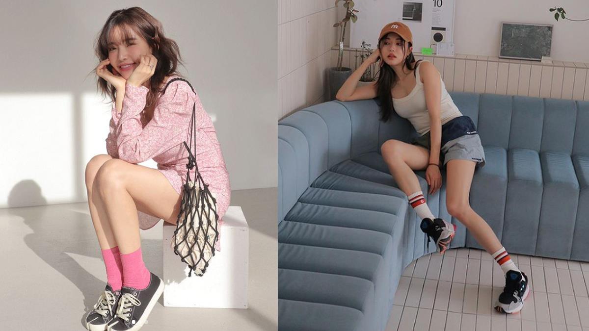 襪子除了黑白灰也能繽紛配!女孩都適用的「選襪指南」,小麥肌配上粉嫩系襪款是絕美的相遇~