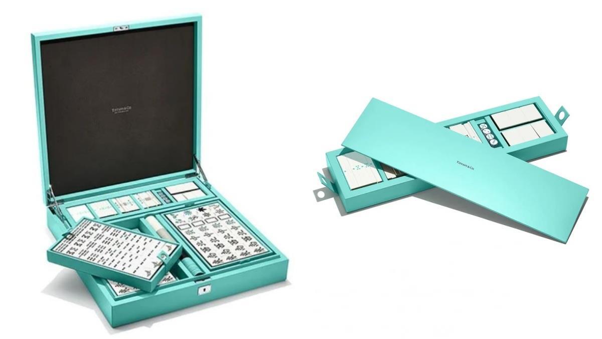 這不是麻將!是滿滿少女心♥夢幻到心痛的「Tiffany & Co麻將套組」,漸層Tiffany綠輸慘牌桌也開心!