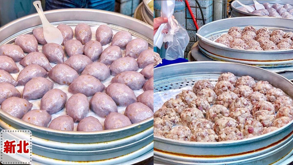新北美食|顏記古早味美食坊|滿滿芋頭粒有包餡的芋粿巧.金山老街必吃美食!