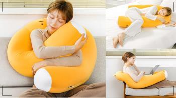 沒男友也能被抱好抱滿!偽男友「萊恩U型抱枕」超長手臂將妳抱緊緊,不管耍廢追劇幸福都加倍R💓