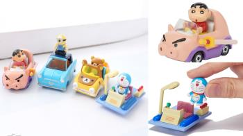 坐好!老司機小新要發車啦!TOMICA超萌「卡通角色小車車」,Kitty的透明蘋果車居然還能敞篷啦♥