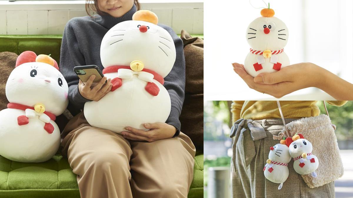 麻糬般的軟Q觸感超療癒!日本郵局新款「哆啦A夢鏡餅週邊」,哆啦美也變成白白胖胖的小可愛啦~