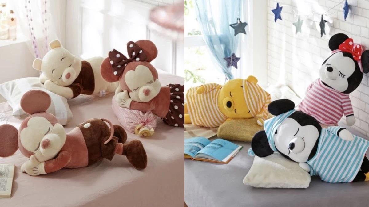 只想跟著一起ㄛㄛ睏!冬季鬧鐘殺手「迪士尼趴睡娃娃」,煙燻玫瑰色系&可愛睡衣風陪你甜甜入睡♥