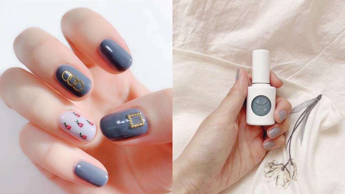 指尖也要嬌嫩可愛!5款「灰藍色」指甲油推薦,雙手肌膚顯得白嫩透亮,擦完氣質瞬間爆棚!