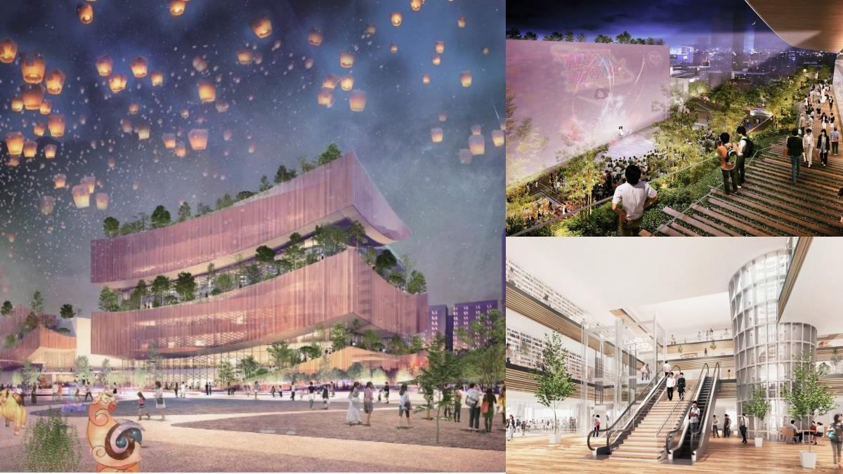 台灣最美圖書館將誕生!「新桃園市立圖書館總館」環保生命樹設計超精緻,看完書還能看電影超愜意~