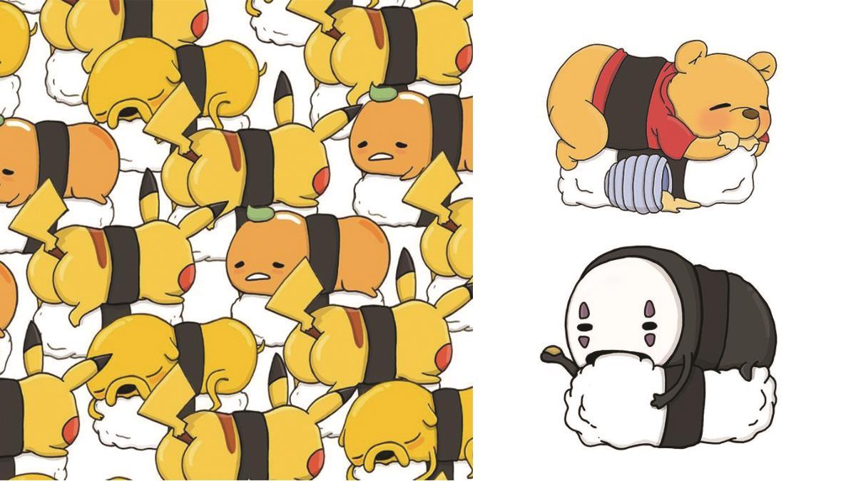 老闆,給龍貓的白飯太少啦!超萌卡通系握壽司,可愛到不逼他開店不行啊?