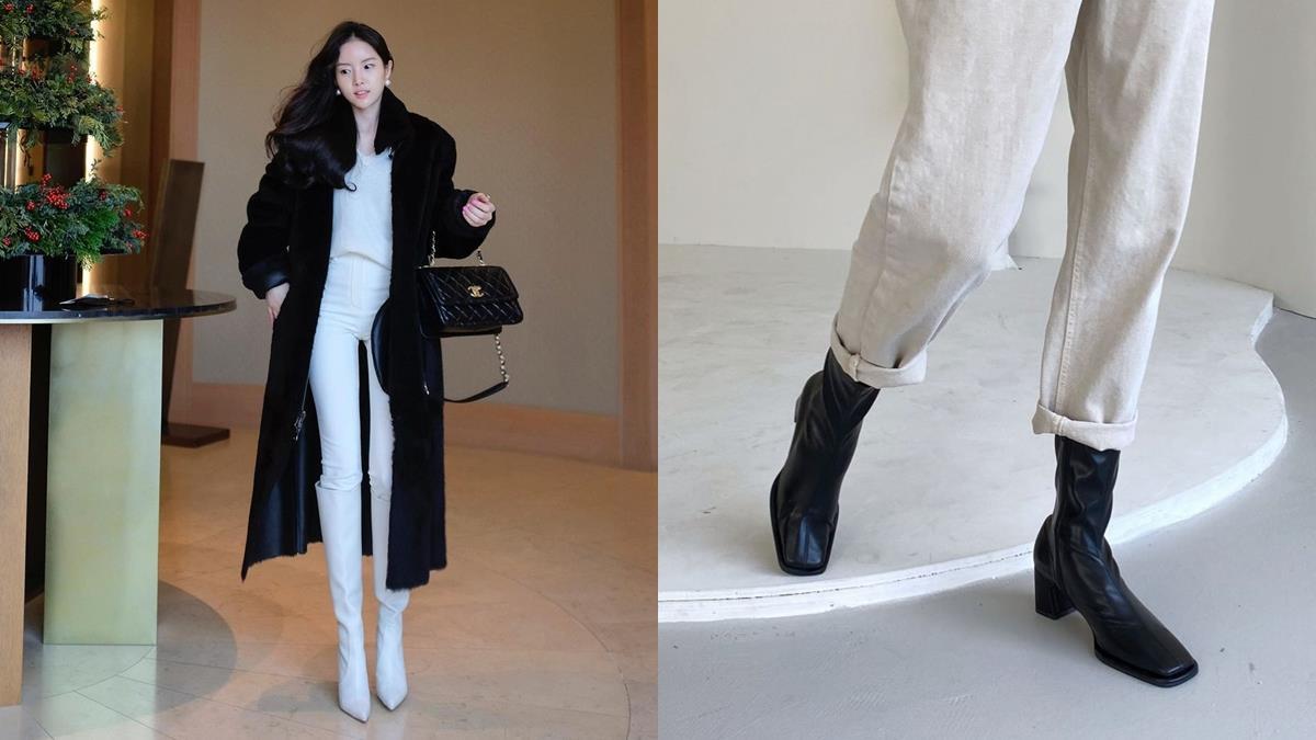 冬天怎麼穿怎麼腫?3招韓妞最愛「靴子X褲子」顯瘦穿搭公式,緊身褲搭高筒靴女團腿輕鬆Get!