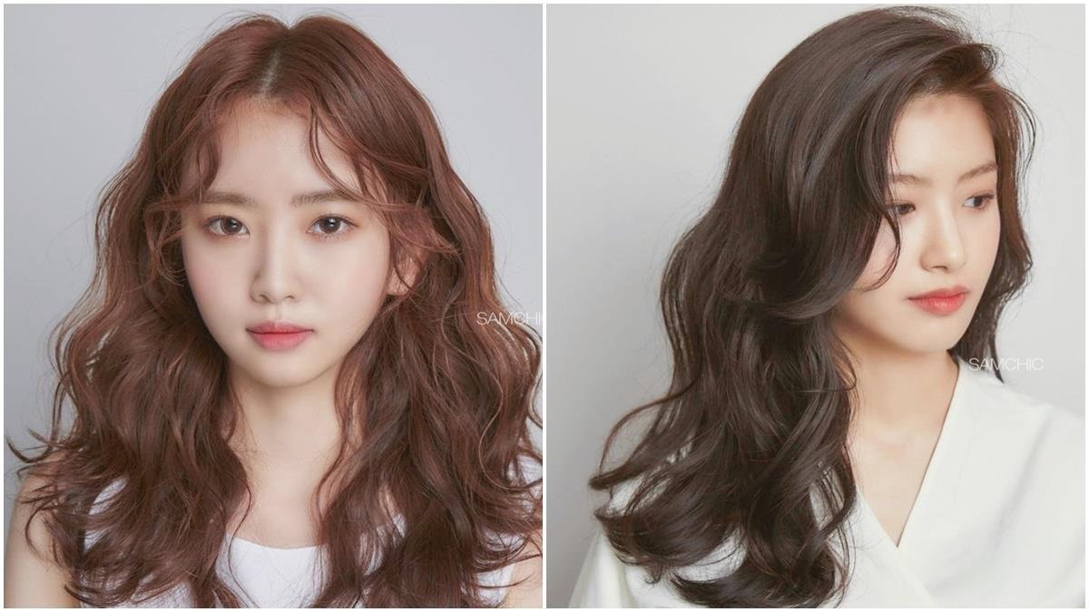 不做醫美也能變V臉!韓國髮型師6款「中長捲髮範本」推薦:拍照再也不用搶小臉位!
