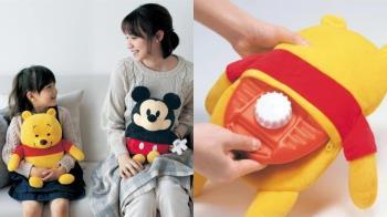 防禦寒流的超萌勇士!日牌推出「迪士尼熱水暖寶寶抱枕」,不用充電就能感受維尼、米奇的溫度♥