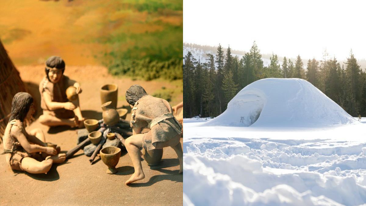 古人沒暖爐怎麼撐過寒流?冰屋裡點火、雪為啥不會融化?「寒冬3大冷知識」:原始人會靠冬眠過冬!