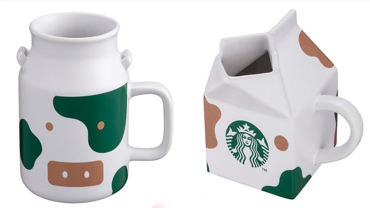 Q到連外國人都搶代購♥星巴克牛年「點點乳牛杯」太呆萌,兩款造型牛奶盒根本收藏等級~