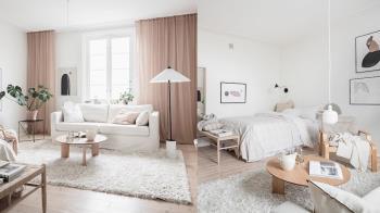 結合韓系時髦&北歐愜意!「奶茶歐蕾」清新小屋佈置靈感,善用白色讓12坪看起來寬敞舒適~