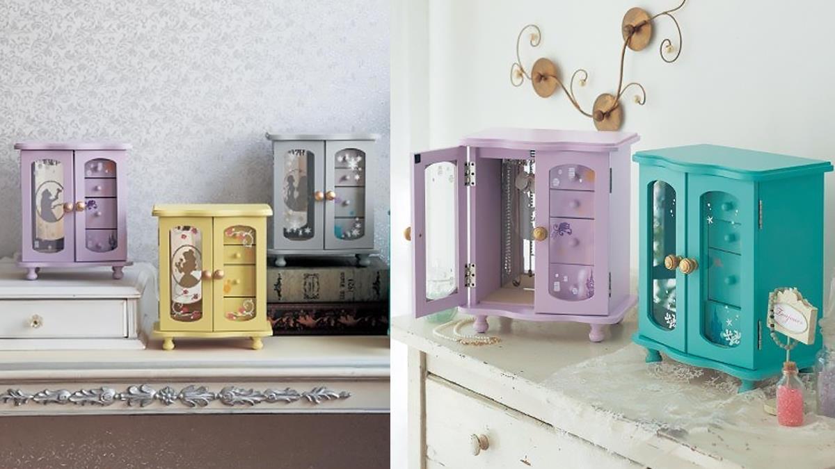 樂佩的紫色太唯美♡「迪士尼公主飾品收納櫃」精緻上市,就算是飾品也需要公主的穿衣鏡!