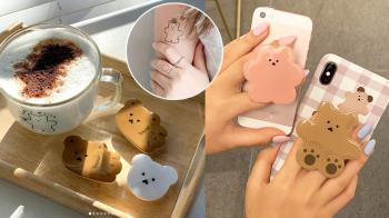 流行到韓妞指定要刺青!韓國人氣「豆豆眼小熊」簡約畫風卻有魔性魅力,多種周邊怎麼看都療癒🧸