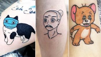 雙手就是我a迷因圖庫!屈原漁夫&口罩貓「6款超鏘梗圖刺青」,連驚嚇倉鼠都有人真的刺上身XD