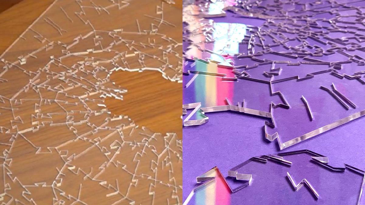 難到玻璃心碎!超瘋不規則「全透明玻璃拼圖」挑戰人類極限,215片根本就是人間地獄啊~