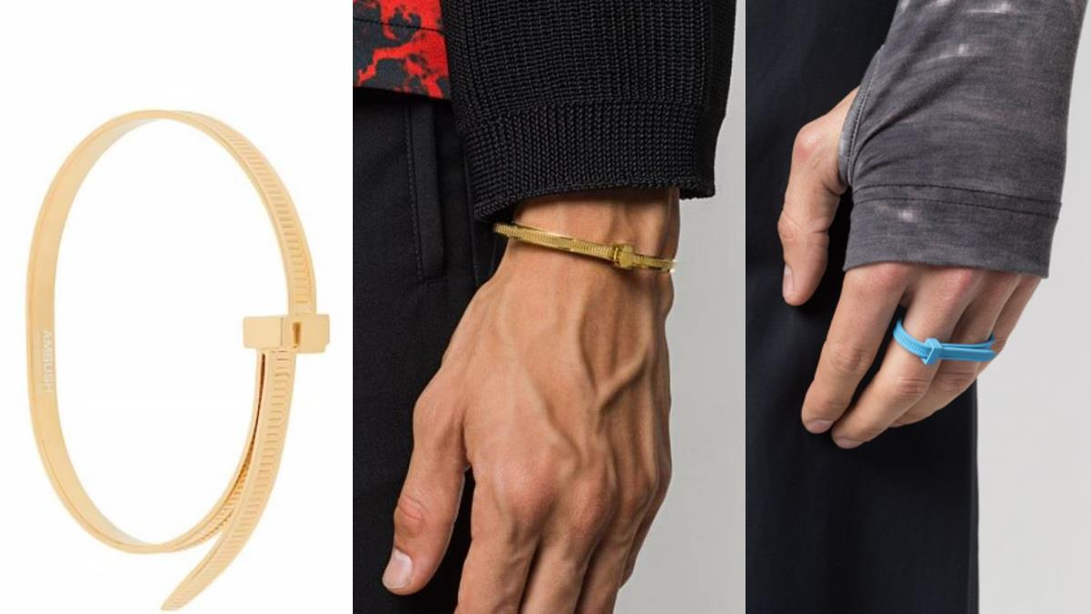 水電工系時尚?!日本潮牌推出超高級「束帶手環」,「天價售價」可以在五金行買2萬個啊XD