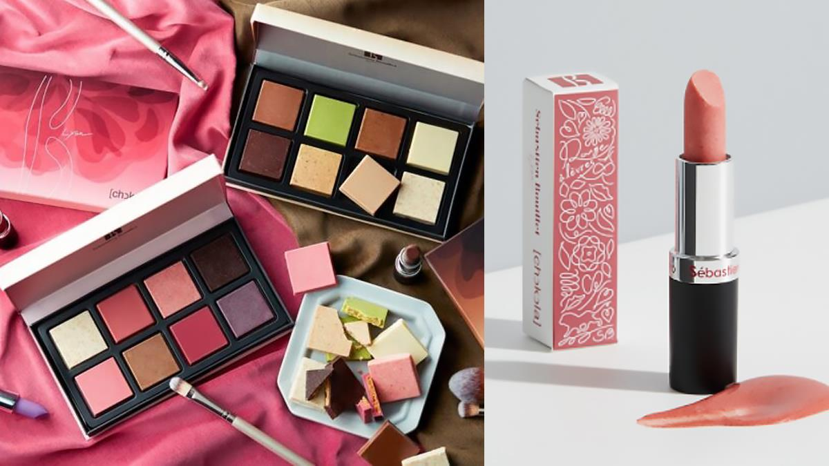 是口紅糖的專櫃版嗎?超浪漫「眼影盤巧克力」滿滿高級感,草莓唇膏香香甜甜好心動~