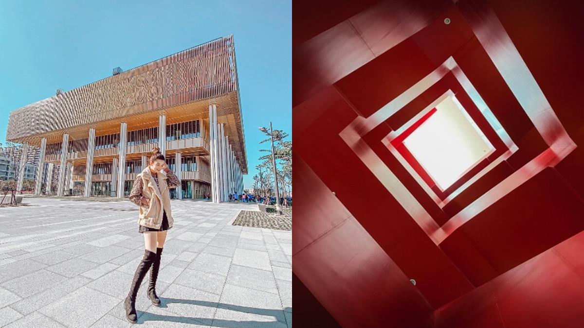 去台南的理由再+1!近19億打造的「台南市立圖書館新總館」新開幕,紅色魔性樓梯 x老屋窗花極美!