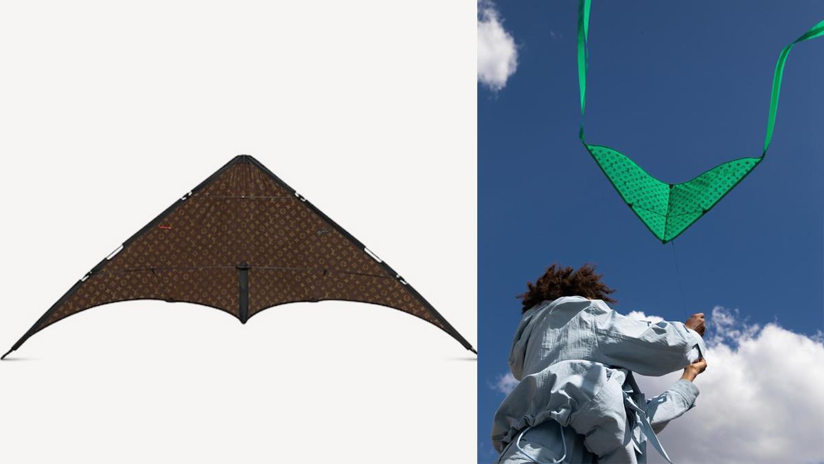 飛啊飛啊偶的新台幣!LV新品「老花奢華風箏」尊爵天價30萬登場,風箏線斷掉真的會哭笑不得啊!