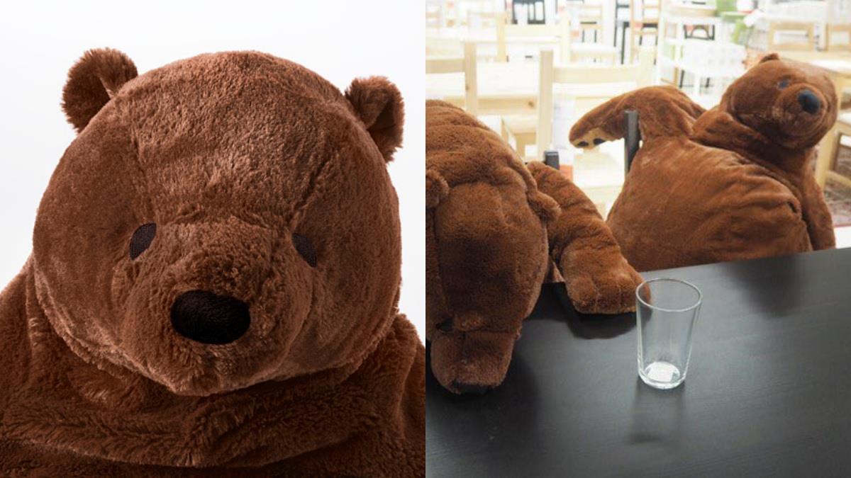 史上最厭世熊哥!IKEA又有爆紅玩偶「100公分厭世棕熊」,癱軟+空洞表情就像每天下班的自己!