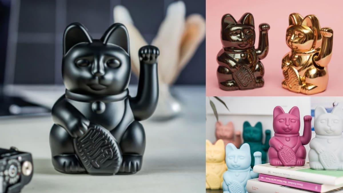 讓全黑的貓貓來招財!超酷「黑魂招財貓」消光黑色帥氣MAX,還有「星座色系」擺在家超有質感~