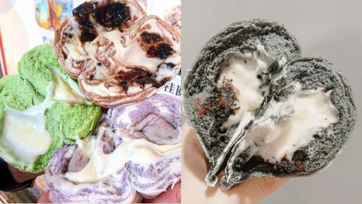 吃到手髒髒也甘願宜蘭必買伴手禮「超爆漿饅頭」,芋頭、珍奶餡滿到會「流淚」啦~