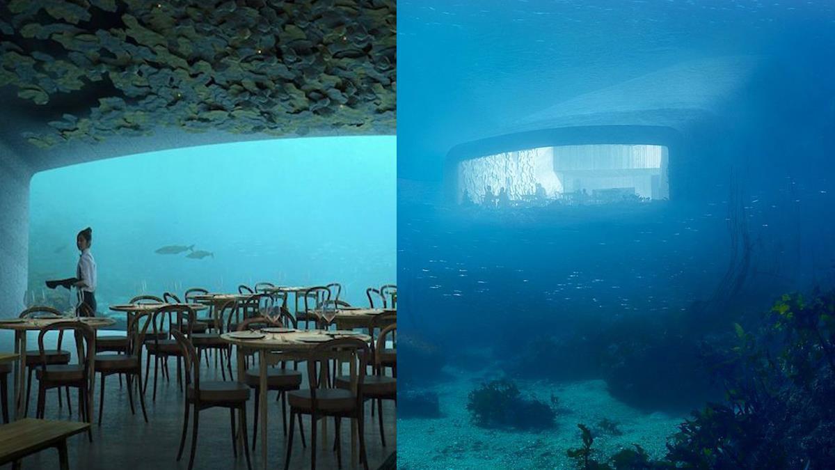 吃飯彷彿坐潛水艇冒險!絕美「海底餐廳」窗外就是悠游魚群,打烊後還變身「神秘研究基地」!