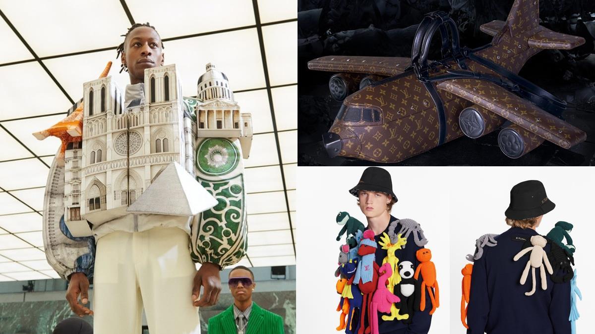 設計師太想出國?!LV男裝新品「奇葩到想收藏」:好想出國衣、飛機包、娃娃爬滿身超炫炮!