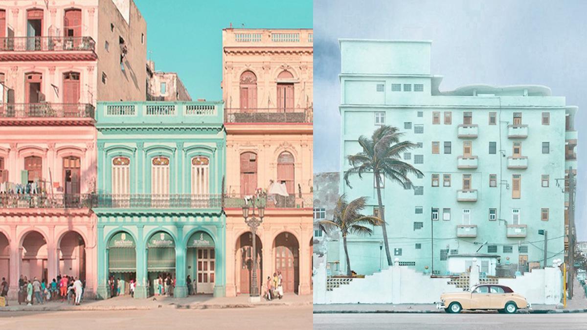 古巴居然又美又仙!法國攝影師拍下「粉嫩街景」驚豔萬人,薄荷綠讓破屋瞬間有威尼感啊~