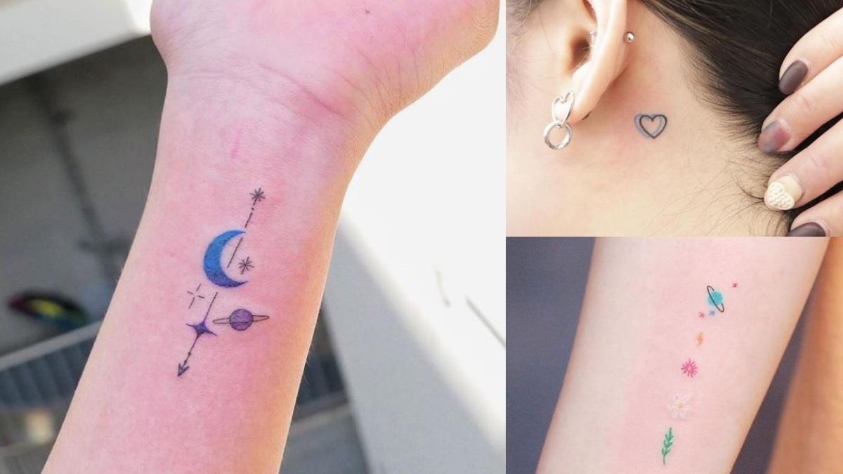 可愛到連阿嬤都會心動♥韓國三款風格的「精緻微刺青」靈感圖鑑,刺在鎖骨或耳後都好看!